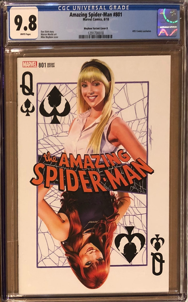 "Amazing Spider-Man #801 Mike Mayhew Variant B ""Gwen Stacy"" CGC 9.8"