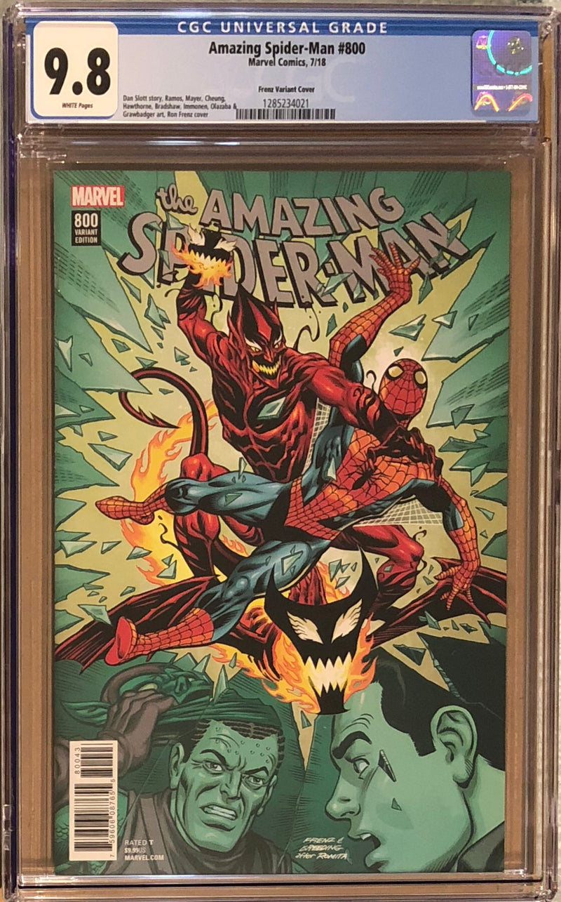 Amazing Spider-Man #800 Ron Frenz Variant CGC 9.8