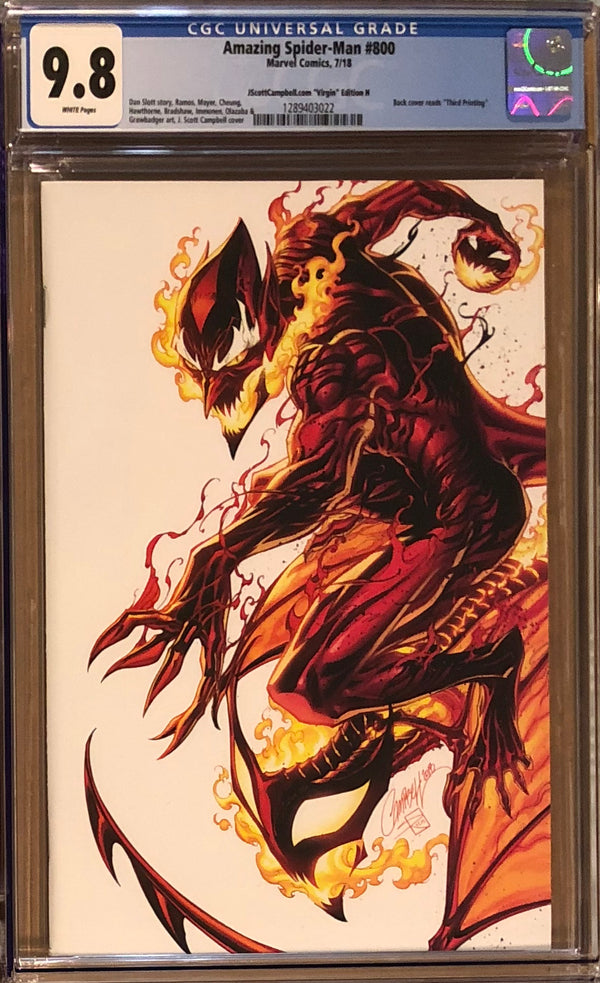 "Amazing Spider-Man #800 J. Scott Campbell Edition H ""Red Goblin"" SDCC Virgin Exclusive CGC 9.8"