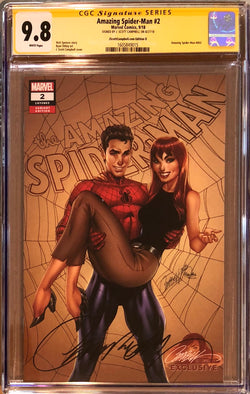 "Amazing Spider-Man #2 J. Scott Campbell Edition D ""1960s Spider-Man & MJ"" Exclusive CGC 9.8 SS"