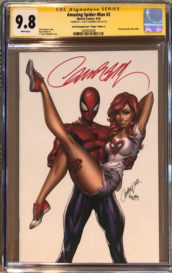 "Amazing Spider-Man #2 J. Scott Campbell Virgin Edition A ""Spider-Man & MJ"" NYCC Exclusive CGC 9.8 SS"