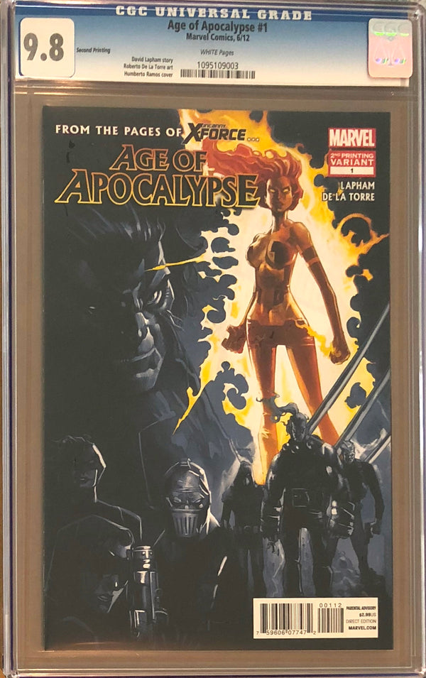Age of Apocalypse #1 Second Printing CGC 9.8