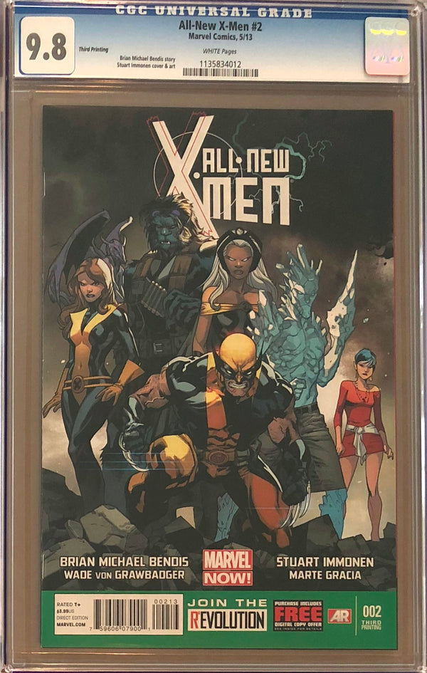 All-New X-Men #2 Third Printing CGC 9.8