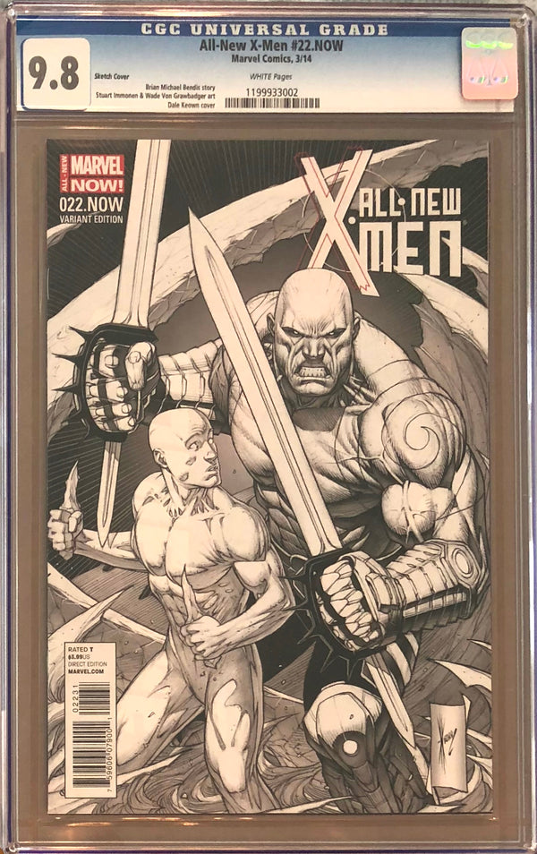 All-New X-Men #22.NOW Dale Keown 1:100 Sketch Cover CGC 9.8