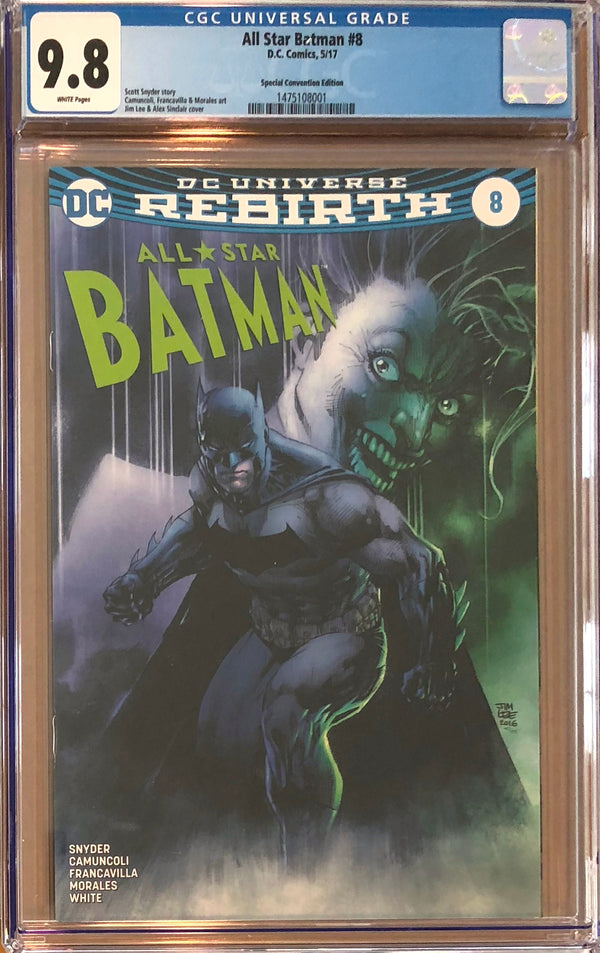 All Star Batman #8 Fan Expo Jim Lee Exclusive CGC 9.8