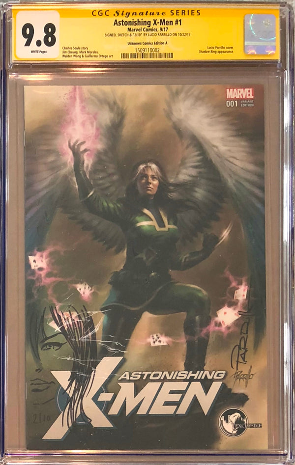 Astonishing X-Men #1 Unknown Comics Variant CGC 9.8 SS Sketched Psylocke #2/10
