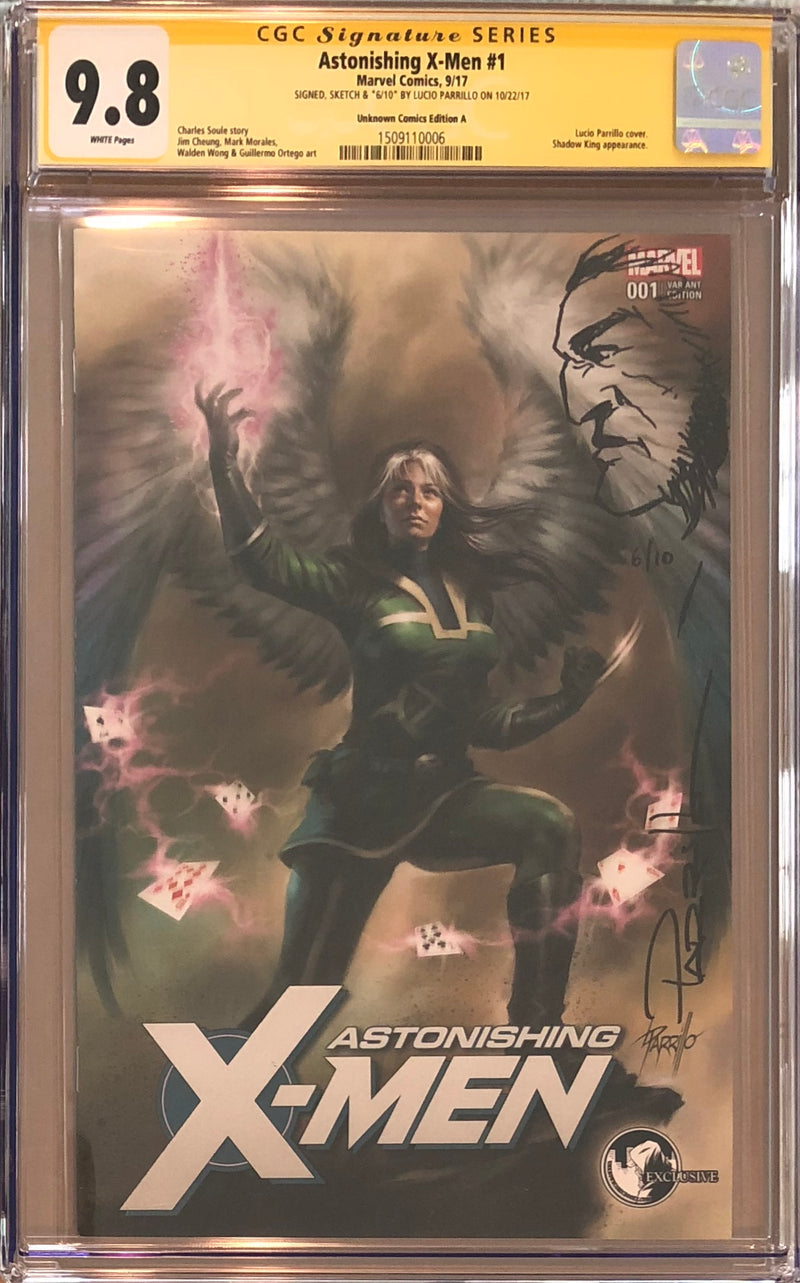 Astonishing X-Men #1 Unknown Comics Variant CGC 9.8 SS Sketched Wolverine #6/10