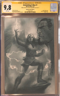 Astonishing X-Men #1 Unknown Comics B Virgin Variant CGC 9.8 SS Sketched Bishop #6/10
