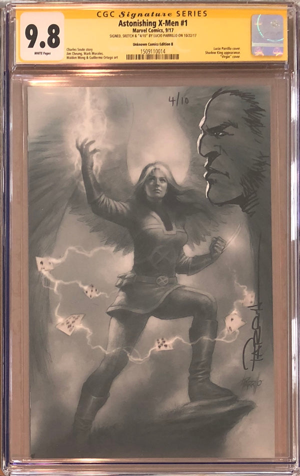Astonishing X-Men #1 Unknown Comics B Virgin Variant CGC 9.8 SS Sketched Wolverine #4/10