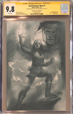Astonishing X-Men #1 Unknown Comics B Virgin Variant CGC 9.8 SS Sketched Gambit #8/10