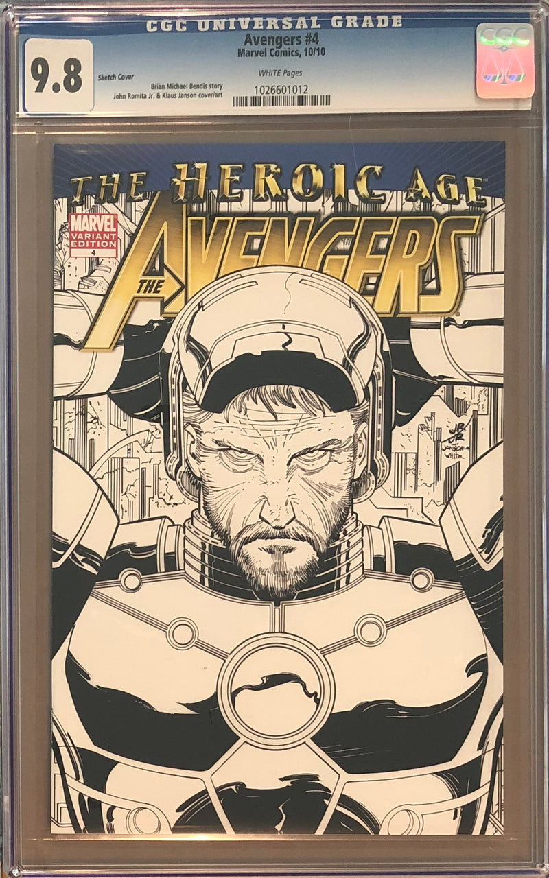 Avengers #4 MRRC Sketch Variant CGC 9.8
