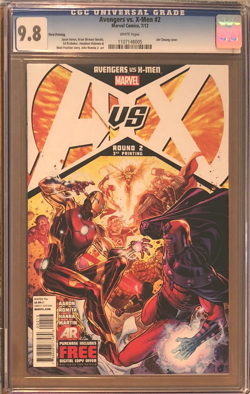 Avengers vs. X-Men #2 Third Printing CGC 9.8