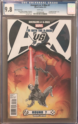 "Avengers vs. X-Men #7 ""I'm with the X-Men"" Variant CGC 9.8"