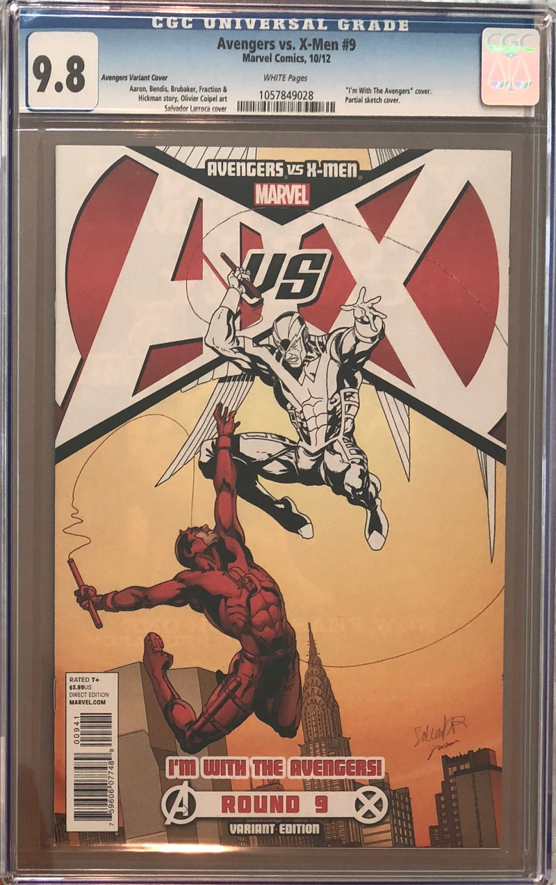 "Avengers vs. X-Men #9 ""I'm with the Avengers"" Variant CGC 9.8"