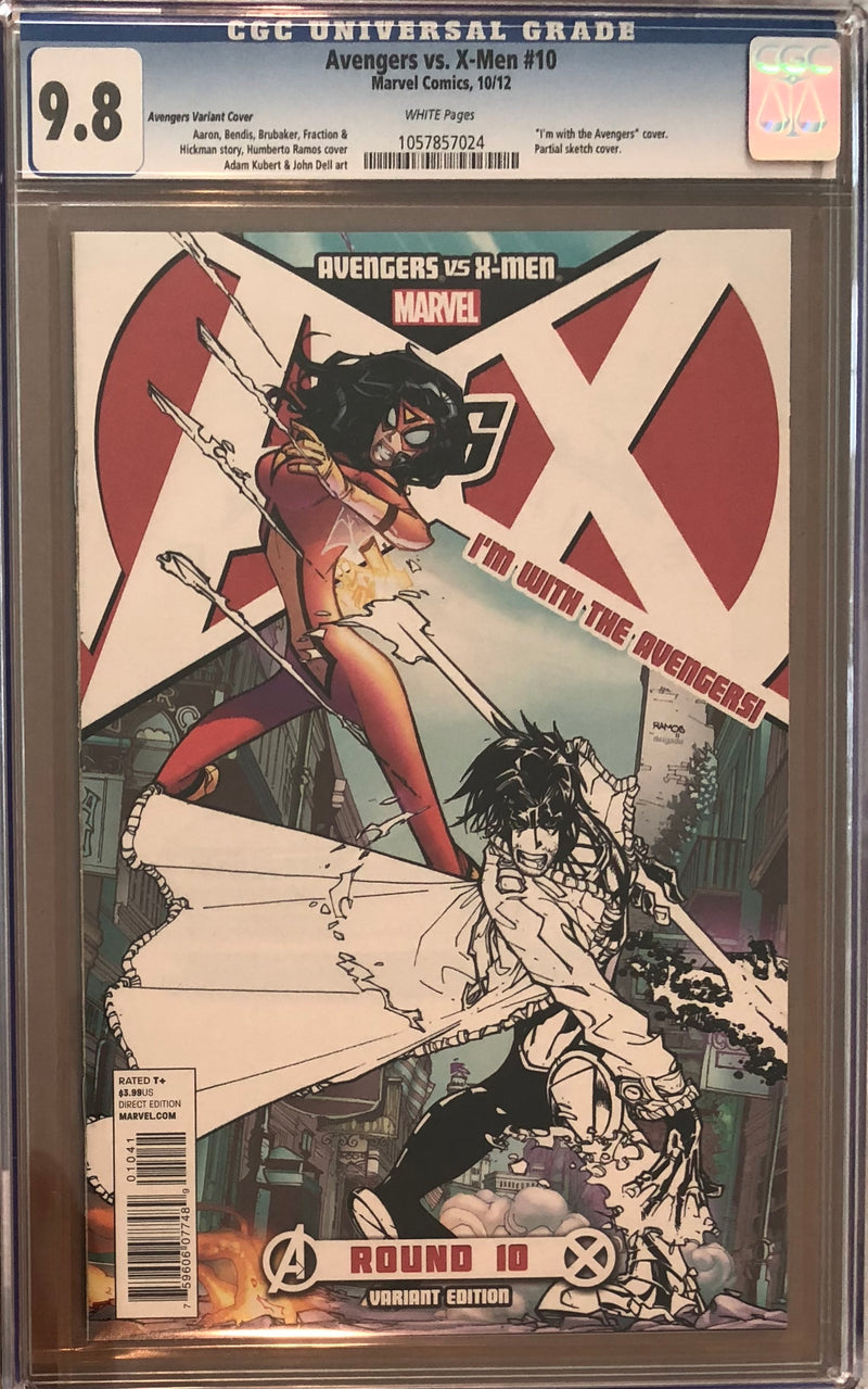 "Avengers vs. X-Men #10 ""I'm with the Avengers"" Variant CGC 9.8"