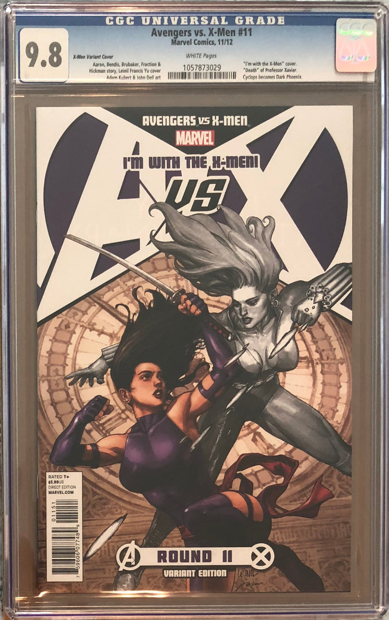 "Avengers vs. X-Men #11 ""I'm with the X-Men"" Variant CGC 9.8"