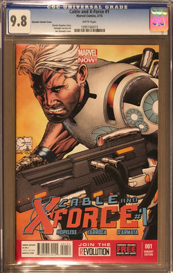 Cable and X-Force #1 Joe Quesada Variant CGC 9.8