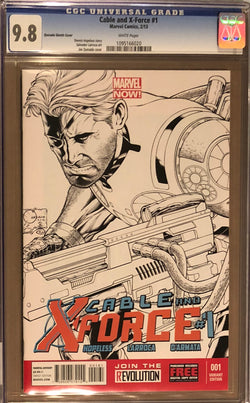 Cable and X-Force #1 Joe Quesada 1:100 Sketch Variant CGC 9.8
