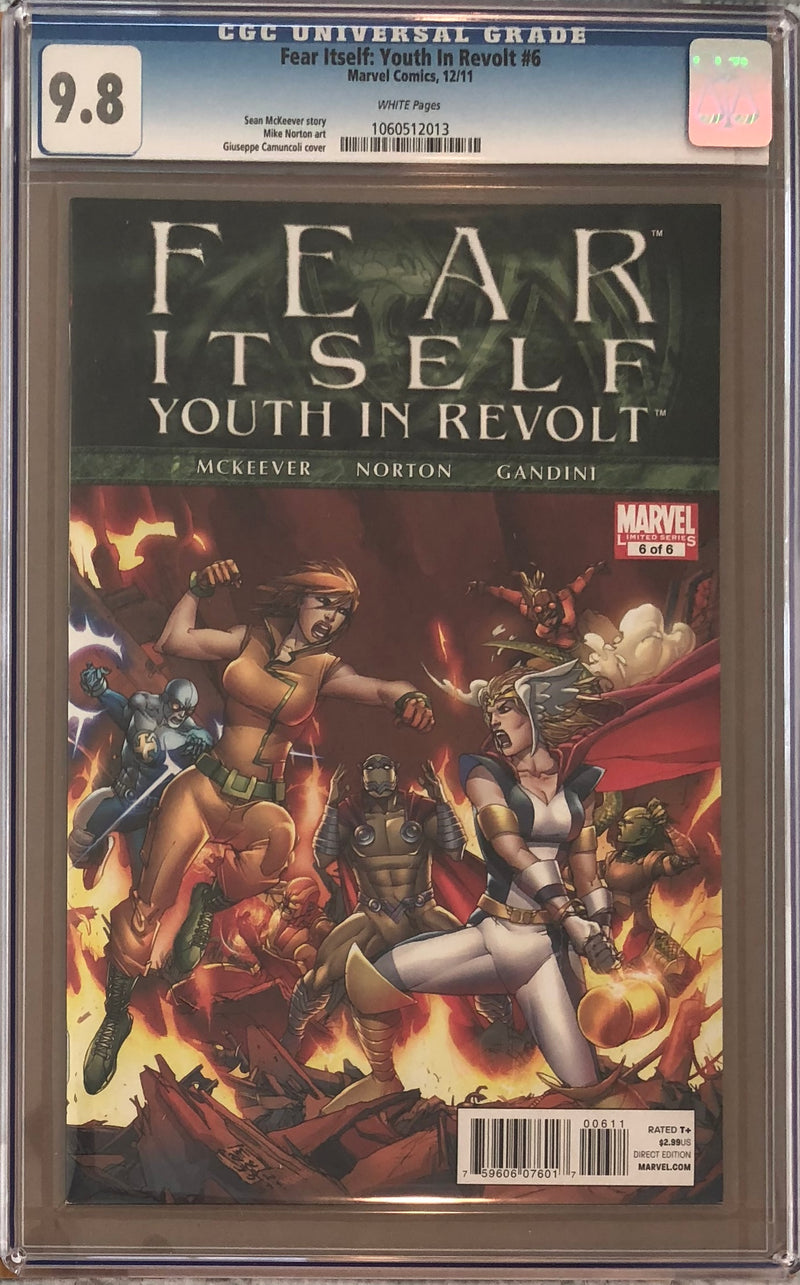 Fear Itself: Youth in Revolt #6 CGC 9.8