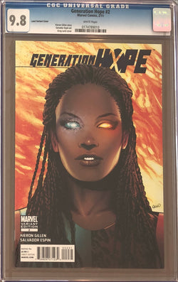 Generation Hope #2 Land Variant CGC 9.8