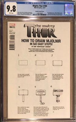 "The Mighty Thor #700 Zdarsky ""How to Draw"" Error Variant #1 CGC 9.8"