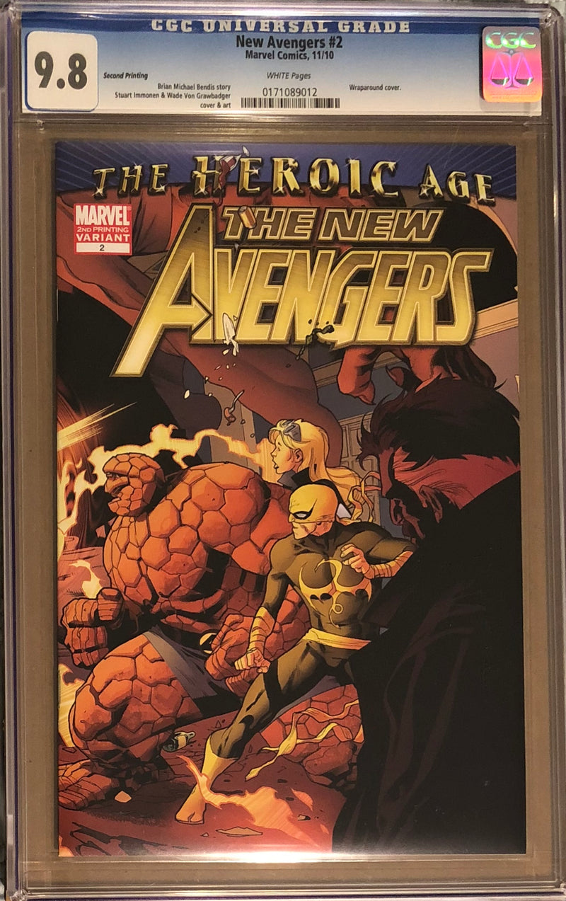 New Avengers #2 Second Printing CGC 9.8