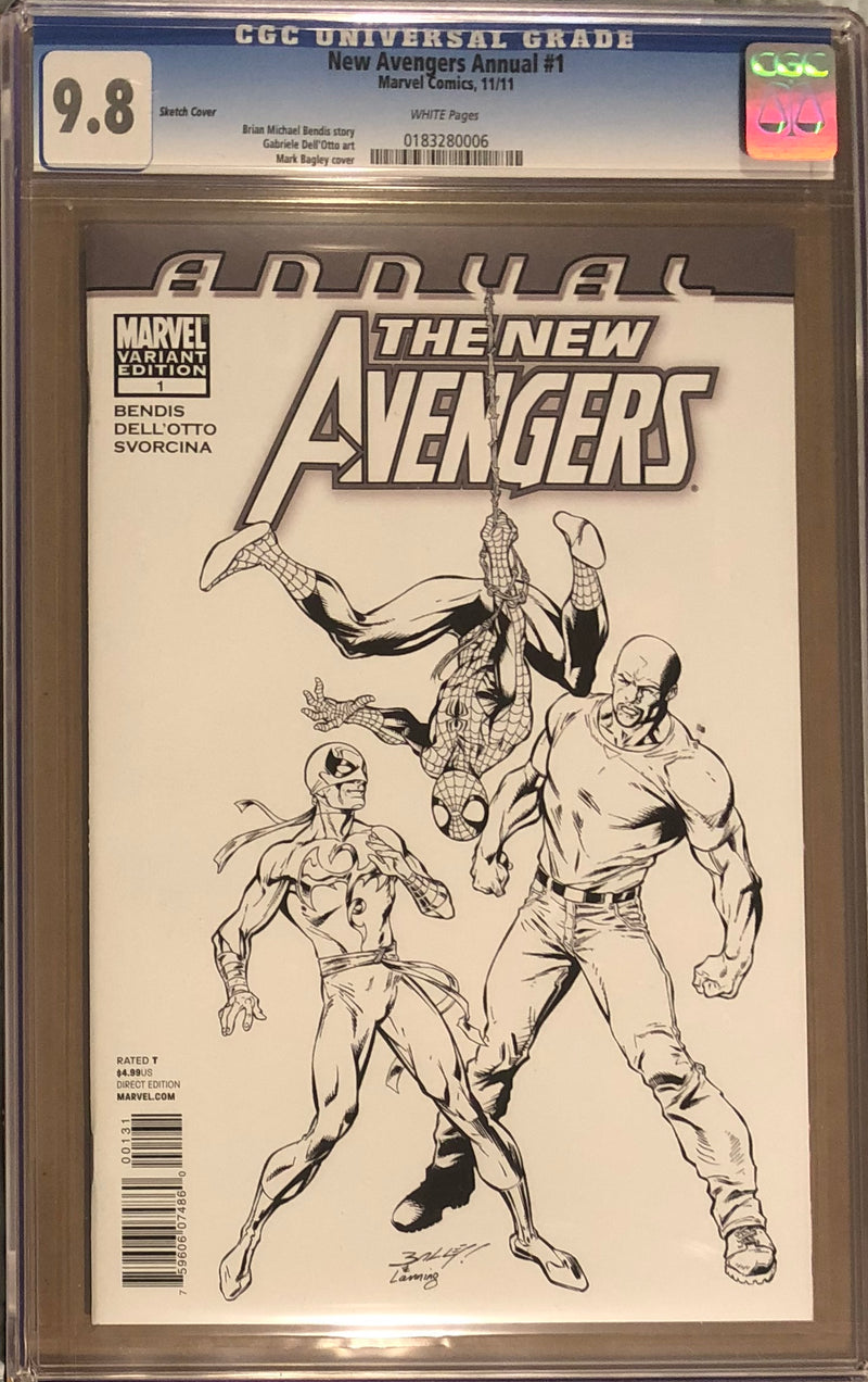 New Avengers Annual #1 Sketch Variant CGC 9.8