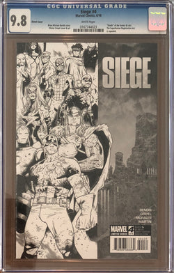 Siege #4 Sketch Cover Variant CGC 9.8