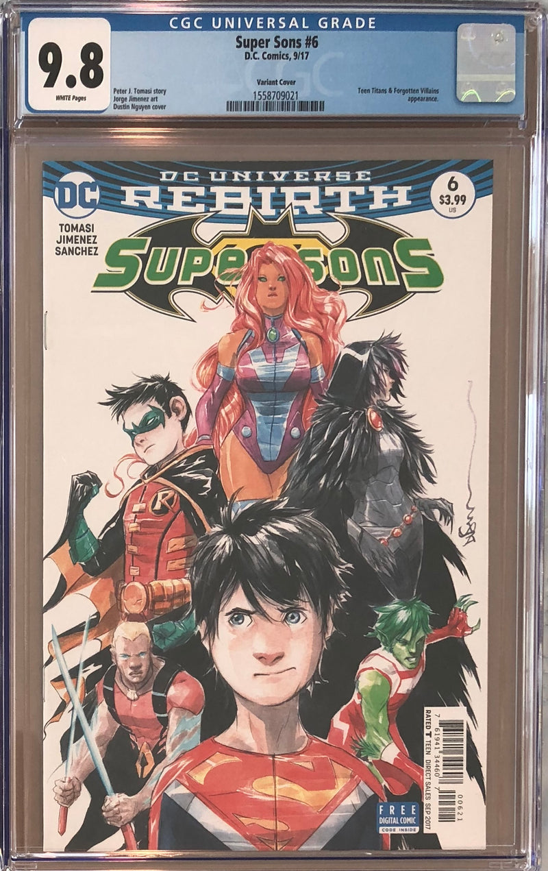 Super Sons #6 Variant CGC 9.8