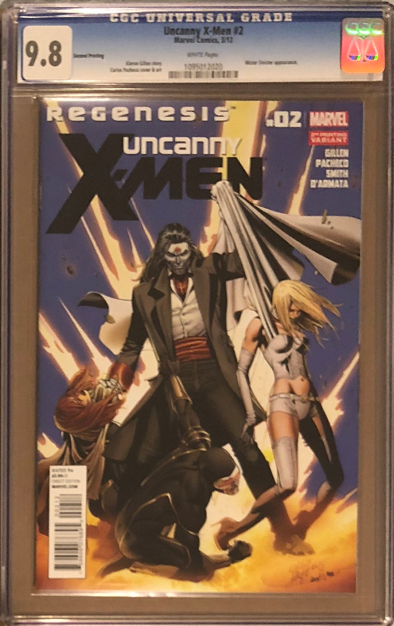 Uncanny X-Men #2 Second Printing CGC 9.8