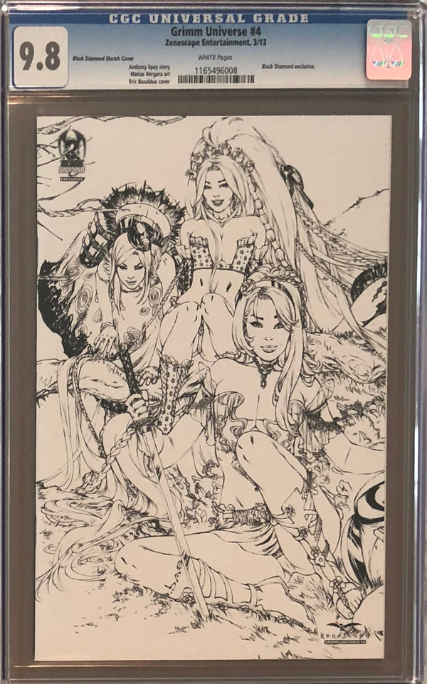 Grimm Universe #4 Black Diamond Sketch Exclusive CGC 9.8