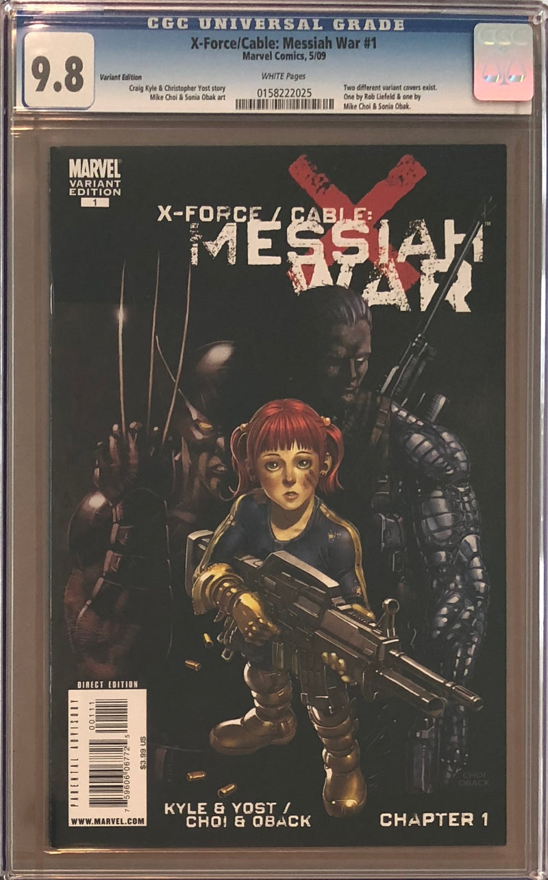 X-Force/Cable: Messiah War #1 Choi Variant CGC 9.8