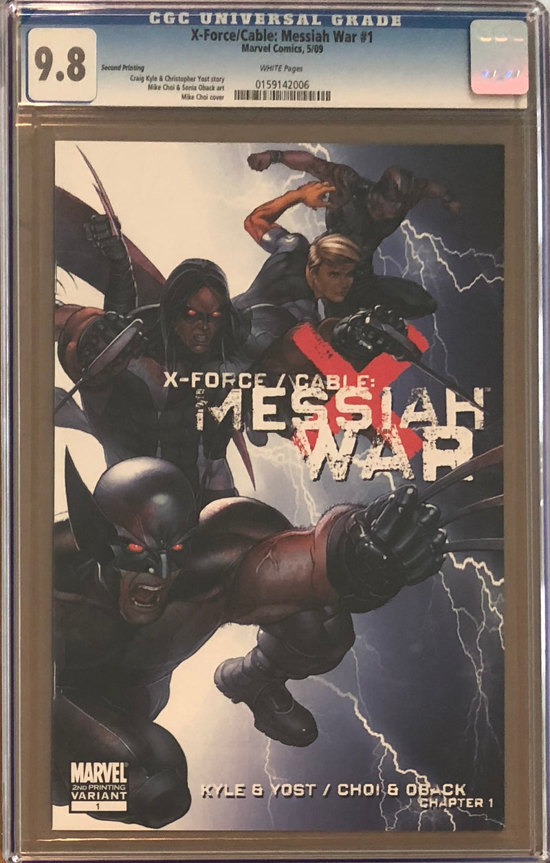 X-Force/Cable: Messiah War #1 Second Printing CGC 9.8