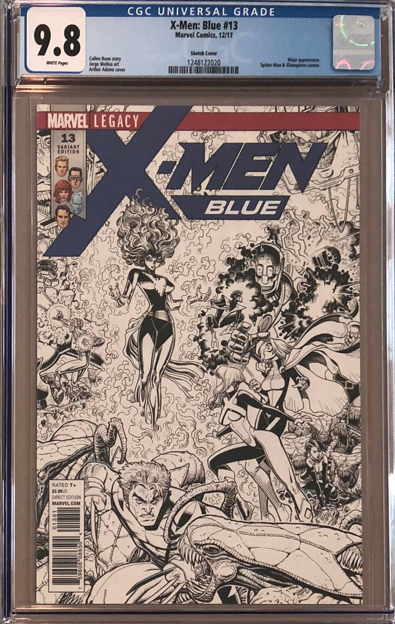 X-Men: Blue #13 1:50 Sketch Cover Variant CGC 9.8