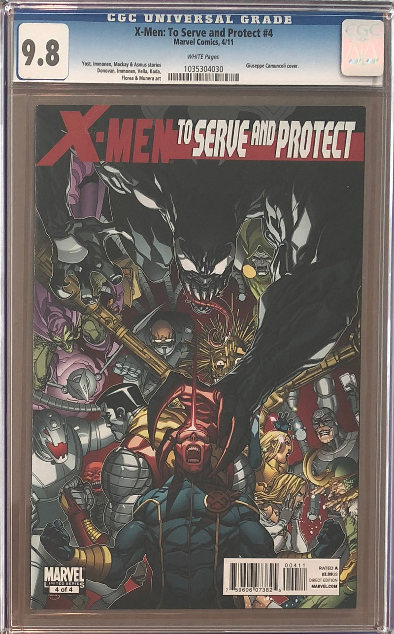 X-Men: To Serve and Protect #4 CGC 9.8