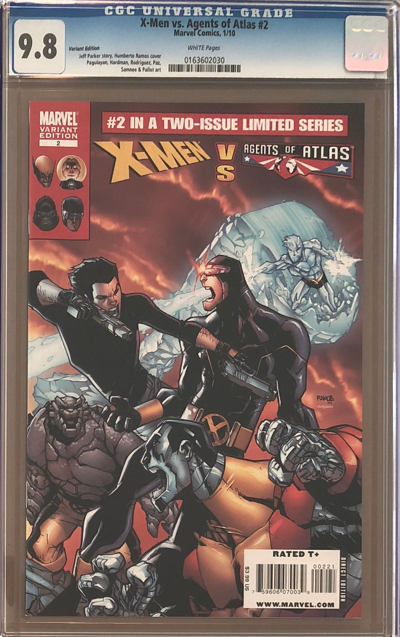 X-Men vs. Agents of Atlas #2 Variant CGC 9.8