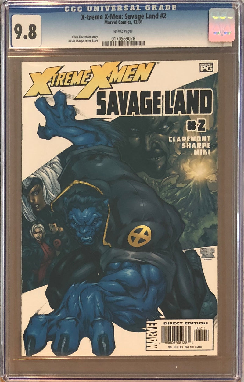 X-Treme X-Men: Savage Land #2 CGC 9.8