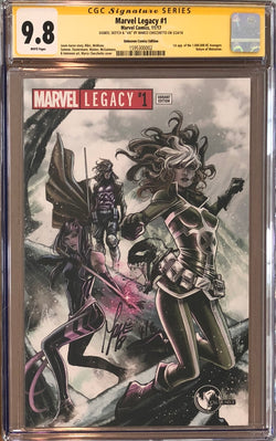 Marvel Legacy #1 Marco Checchetto Variant CGC 9.8 SS Sketched Venom #4/6