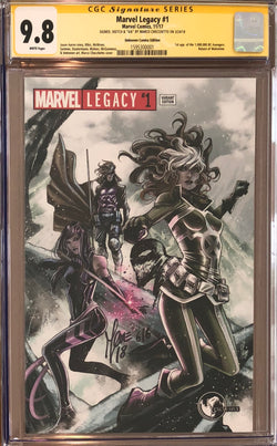 Marvel Legacy #1 Marco Checchetto Variant CGC 9.8 SS Sketched Venom #6/6