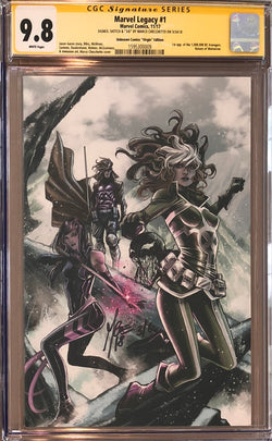 Marvel Legacy #1 Marco Checchetto Virgin Variant CGC 9.8 SS Sketched Venom #3/6