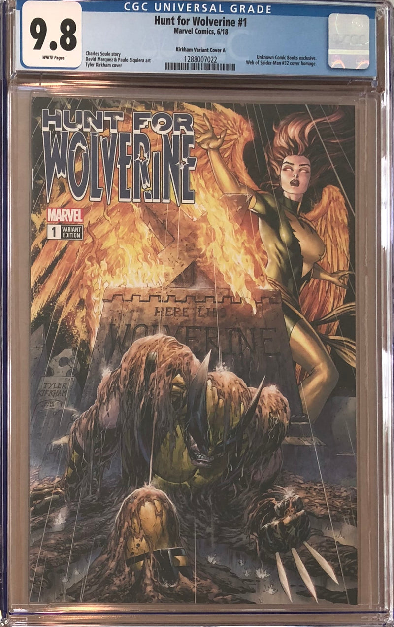Hunt For Wolverine #1 Tyler Kirkham Exclusive CGC 9.8