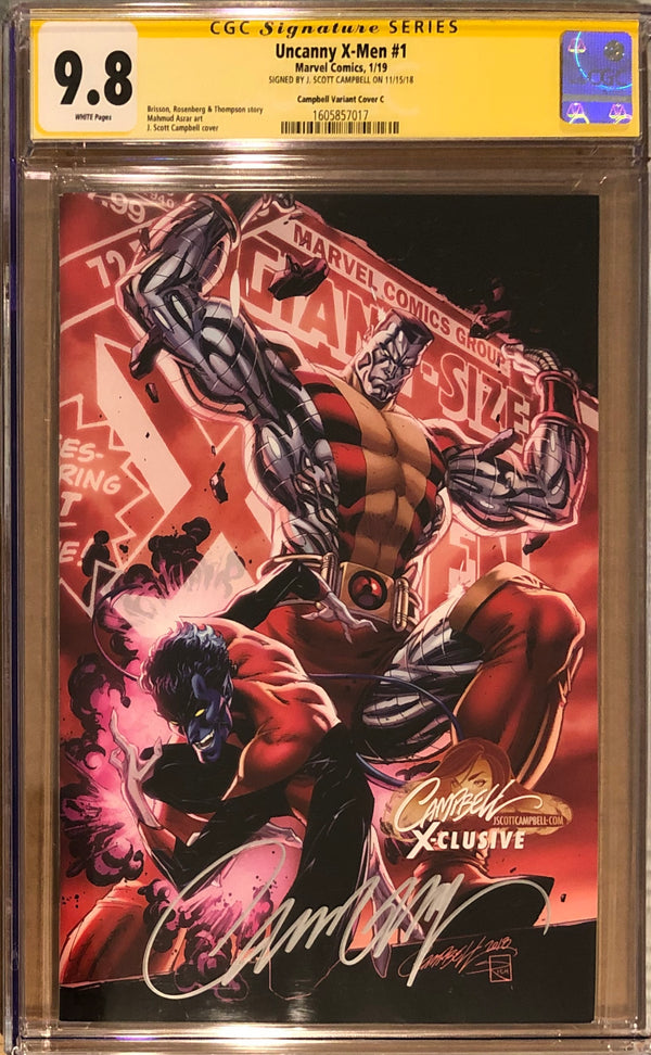 "Uncanny X-Men #1 J. Scott Campbell Edition C ""Colossus/Nightcrawler"" Exclusive CGC 9.8 SS"