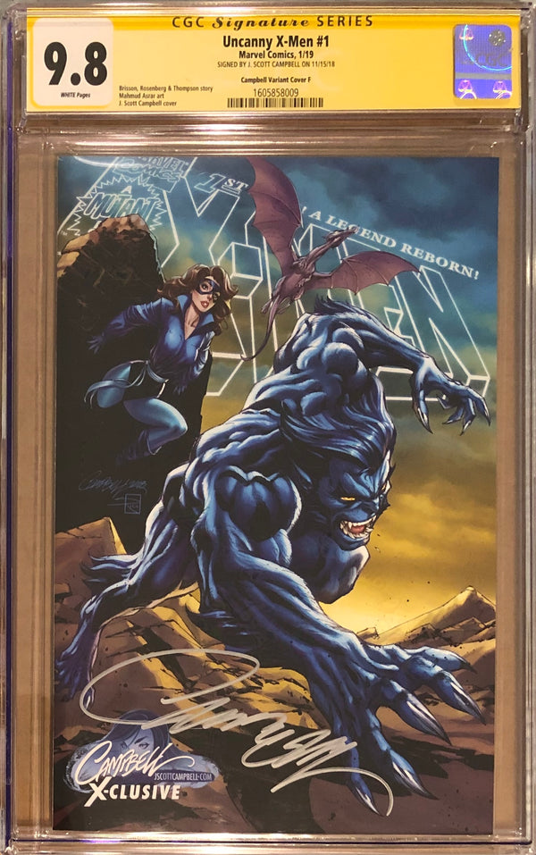 "Uncanny X-Men #1 J. Scott Campbell Edition F ""Beast/Kitty Pryde (Shadowcat)"" Exclusive CGC 9.8 SS"