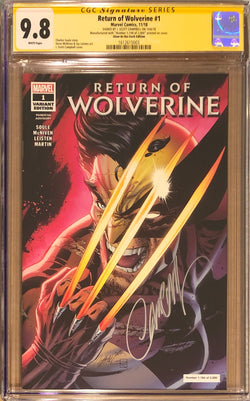 Return of Wolverine #1 J. Scott Campbell Glow in the Dark NYCC Exclusive CGC 9.8 SS
