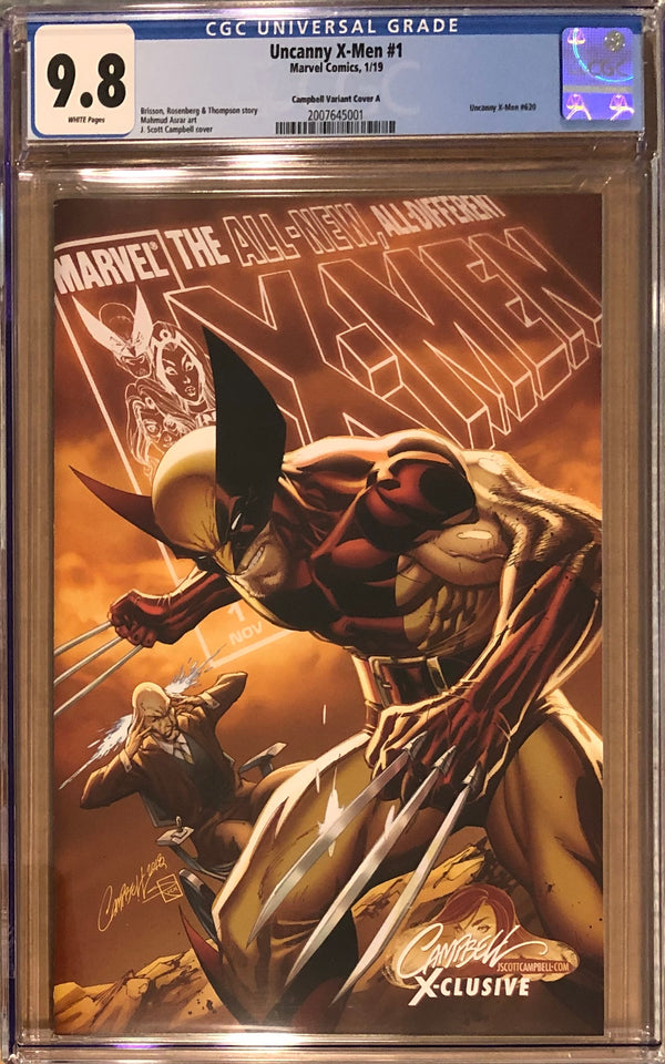 "Uncanny X-Men #1 J. Scott Campbell Edition A ""Wolverine/Xavier"" Exclusive CGC 9.8"