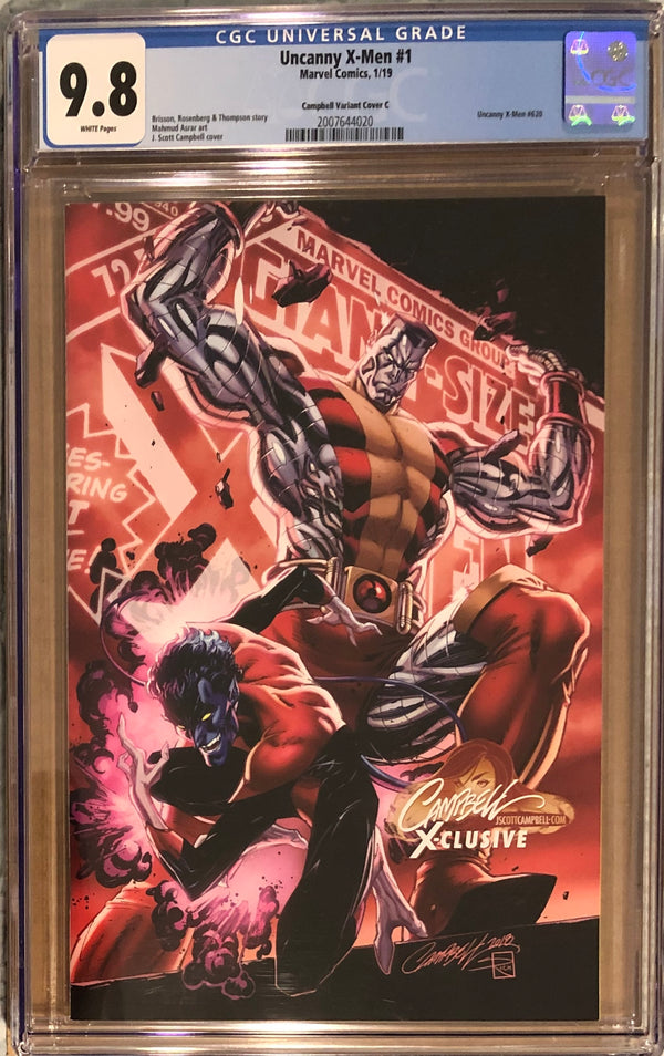 "Uncanny X-Men #1 J. Scott Campbell Edition C ""Colossus/Nightcrawler"" Exclusive CGC 9.8"