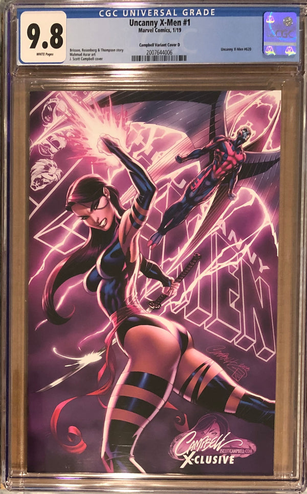 "Uncanny X-Men #1 J. Scott Campbell Edition D ""Psylocke/Archangel"" Exclusive CGC 9.8"