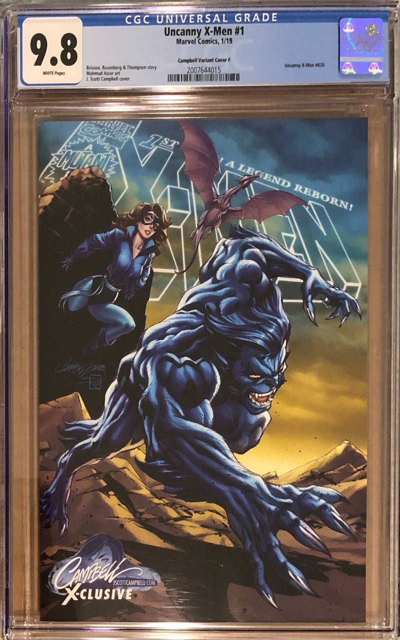 "Uncanny X-Men #1 J. Scott Campbell Edition F ""Beast/Kitty Pryde (Shadowcat) Exclusive CGC 9.8"