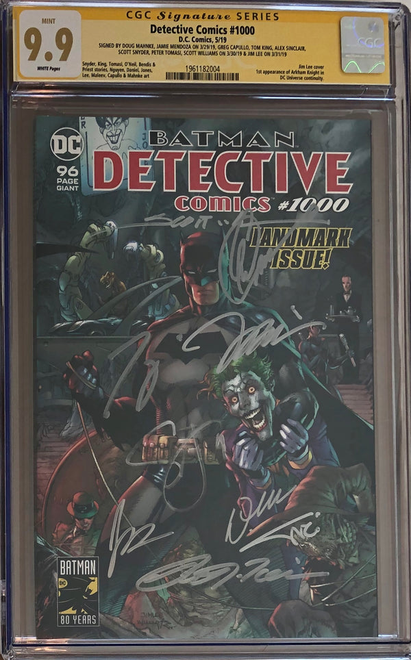 Detective Comics #1000 CGC 9.9 SS - Jim Lee Wraparound Cover - 9x Signed!