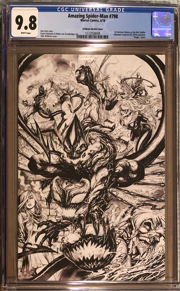 Amazing Spider-Man #798 Tyler Kirkham Sketch C2E2 Exclusive CGC 9.8 - First appearance of the Red Goblin!